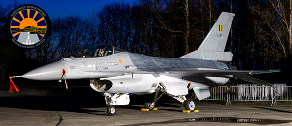 Belgian Air Force Sunset Photoshoot